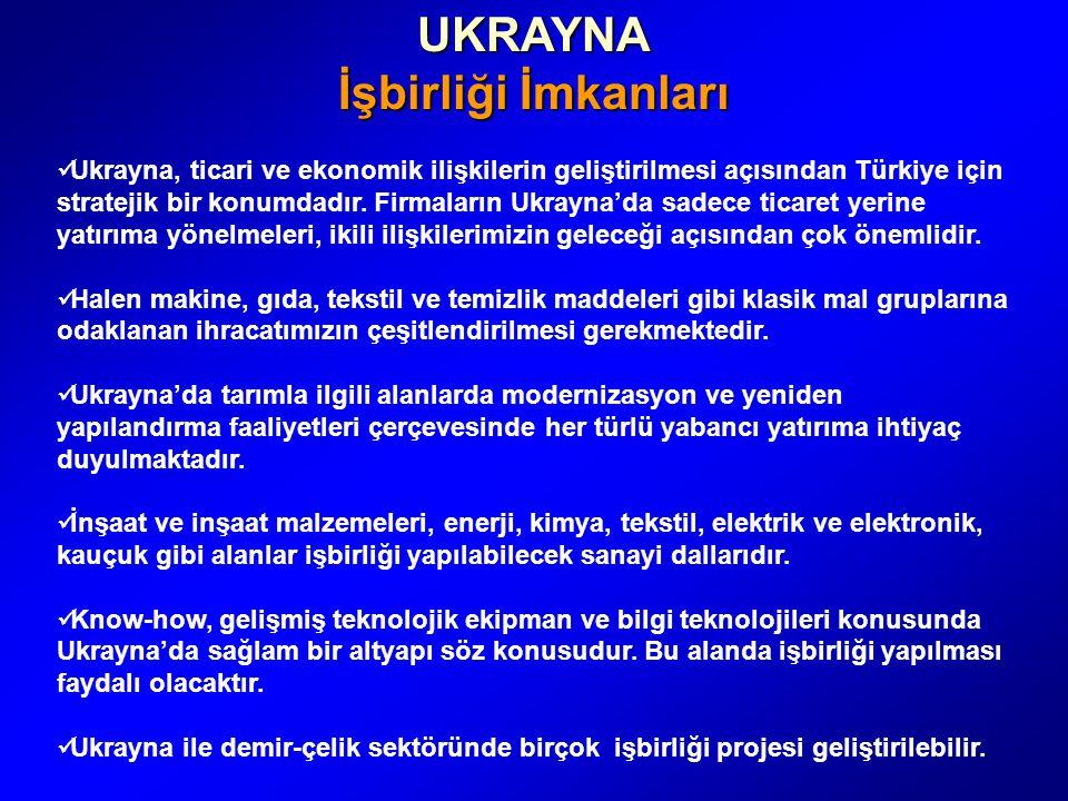 UKRAYNA İşbirliği İmkanları