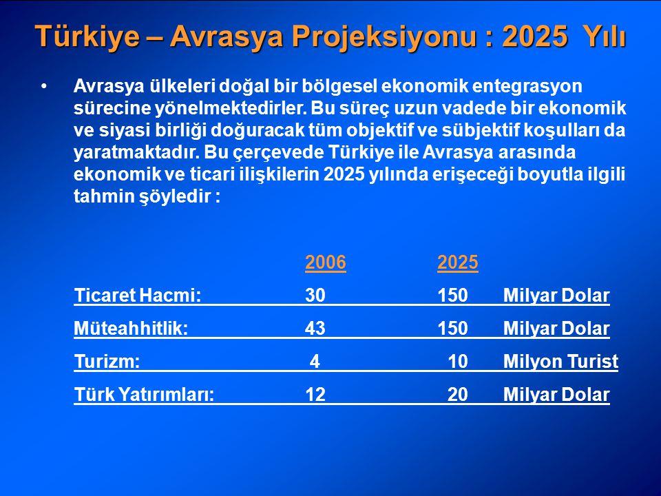 Türkiye – Avrasya Projeksiyonu : 2025 Yılı