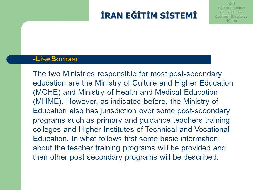 Eğitim Bilimleri Yüksek Lisans Gelişmiş Ülkelerde Eğitim