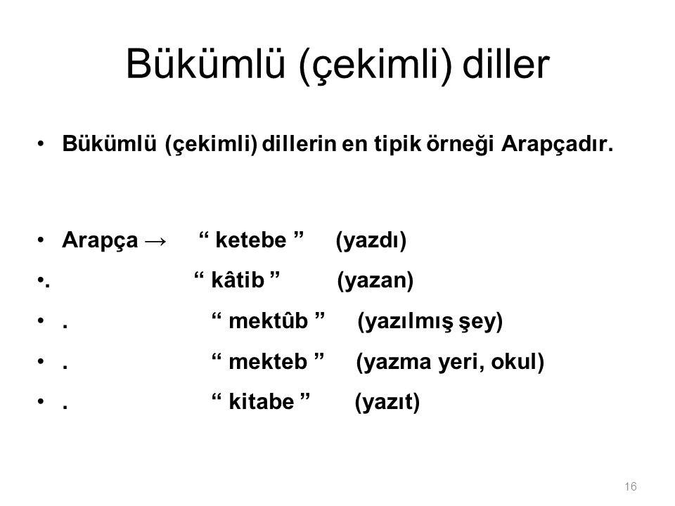 Bükümlü (çekimli) diller