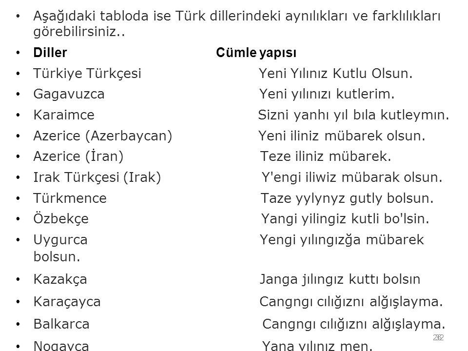 Türkiye Türkçesi Yeni Yılınız Kutlu Olsun.