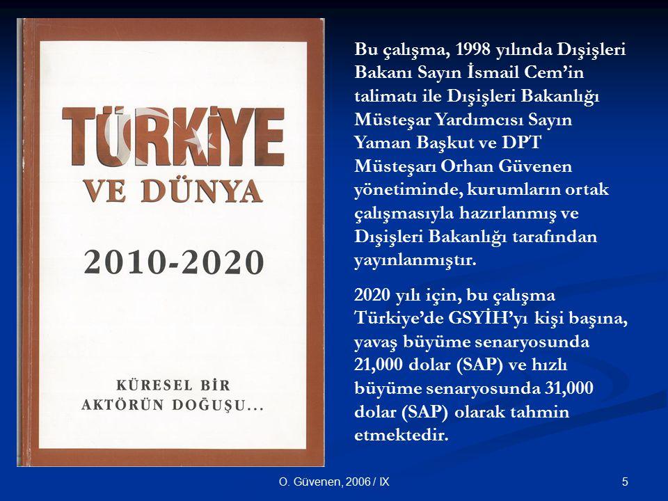 Bu çalışma, 1998 yılında Dışişleri Bakanı Sayın İsmail Cem'in talimatı ile Dışişleri Bakanlığı Müsteşar Yardımcısı Sayın Yaman Başkut ve DPT Müsteşarı Orhan Güvenen yönetiminde, kurumların ortak çalışmasıyla hazırlanmış ve Dışişleri Bakanlığı tarafından yayınlanmıştır.