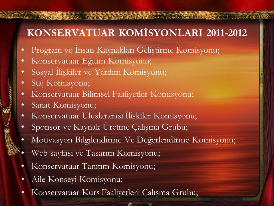 KONSERVATUAR KOMİSYONLARI 2011-2012