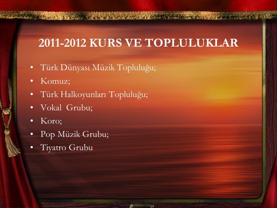 2011-2012 KURS VE TOPLULUKLAR Türk Dünyası Müzik Topluluğu; Komuz;