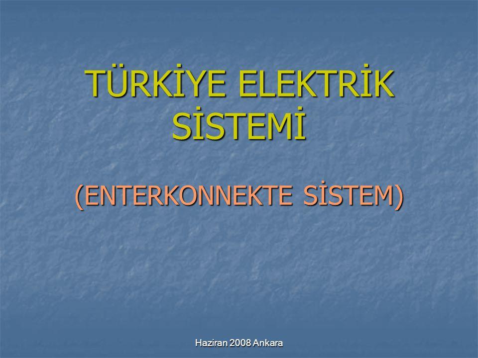 TÜRKİYE ELEKTRİK SİSTEMİ (ENTERKONNEKTE SİSTEM)