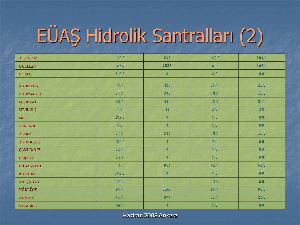 EÜAŞ Hidrolik Santralları (2)