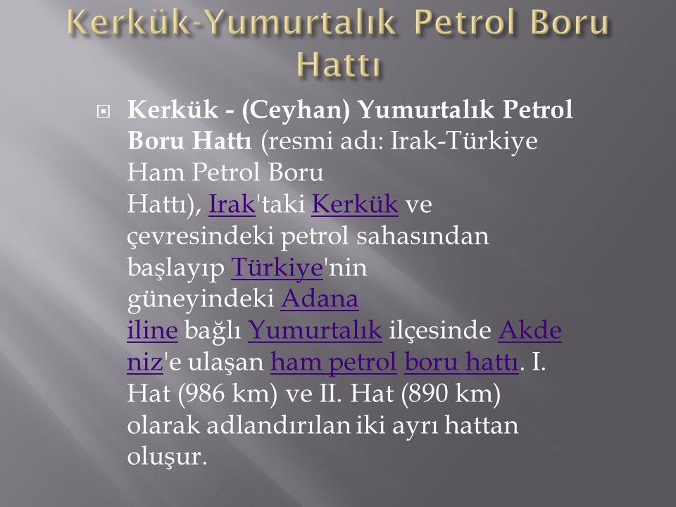 Kerkük-Yumurtalık Petrol Boru Hattı