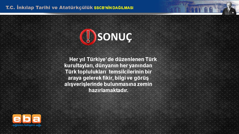 T.C. İnkılap Tarihi ve Atatürkçülük SSCB'NİN DAĞILMASI