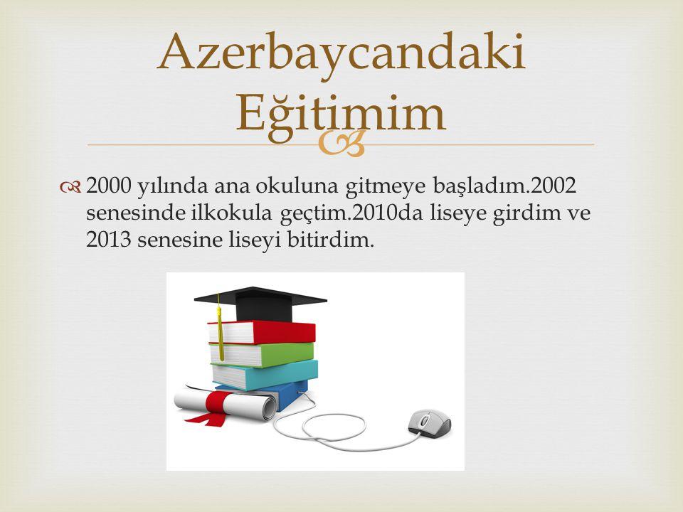 Azerbaycandaki Eğitimim