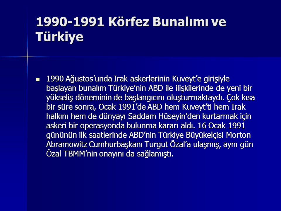 1990-1991 Körfez Bunalımı ve Türkiye