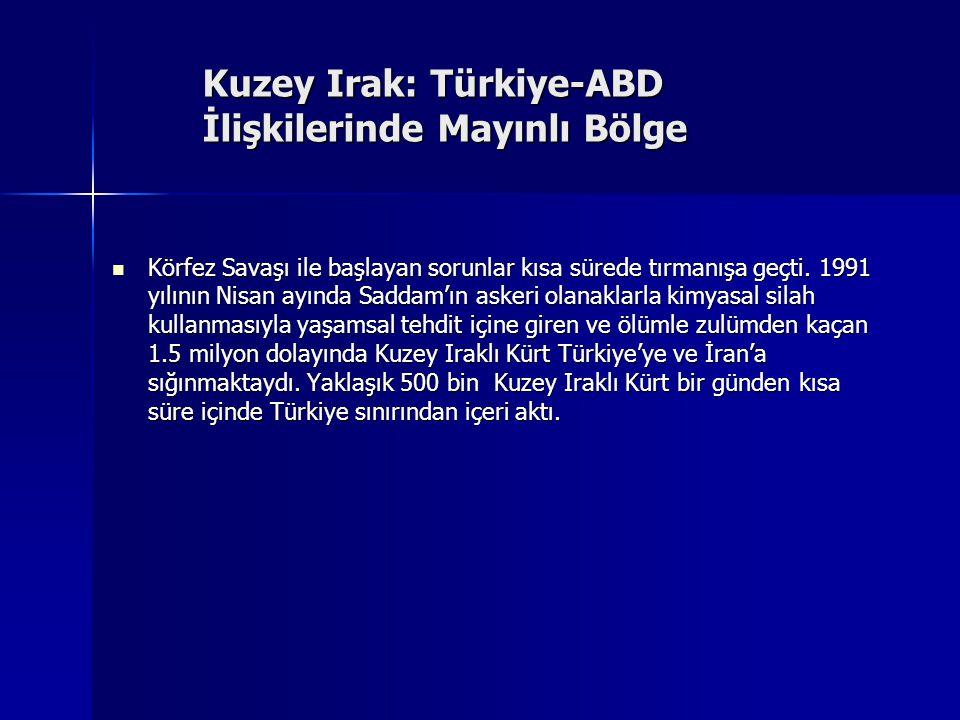 Kuzey Irak: Türkiye-ABD İlişkilerinde Mayınlı Bölge