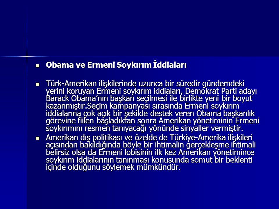 Obama ve Ermeni Soykırım İddiaları