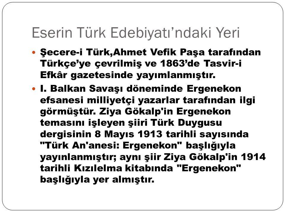 Eserin Türk Edebiyatı'ndaki Yeri