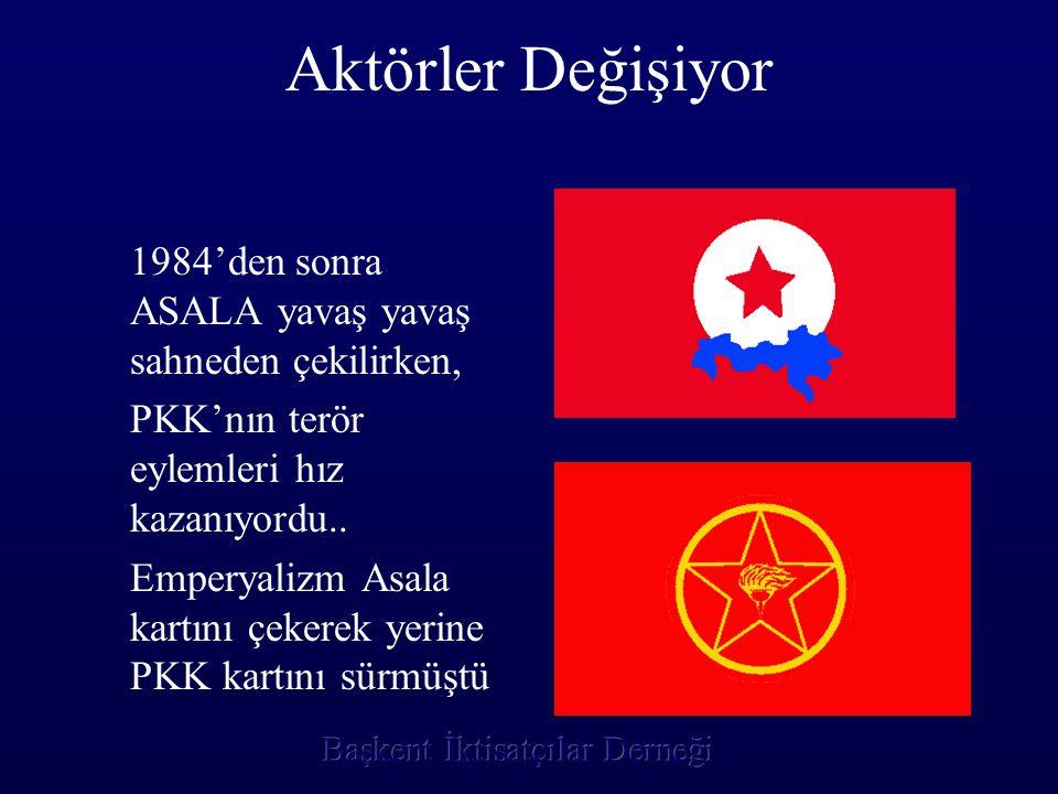 Aktörler Değişiyor 1984'den sonra ASALA yavaş yavaş sahneden çekilirken, PKK'nın terör eylemleri hız kazanıyordu..