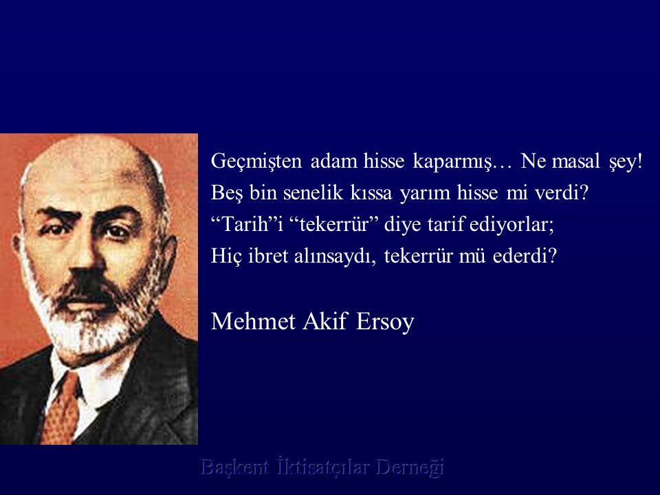 Mehmet Akif Ersoy Geçmişten adam hisse kaparmış… Ne masal şey!