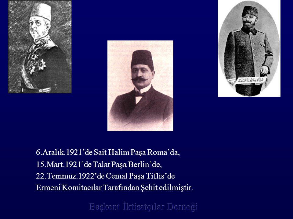 6.Aralık.1921'de Sait Halim Paşa Roma'da,