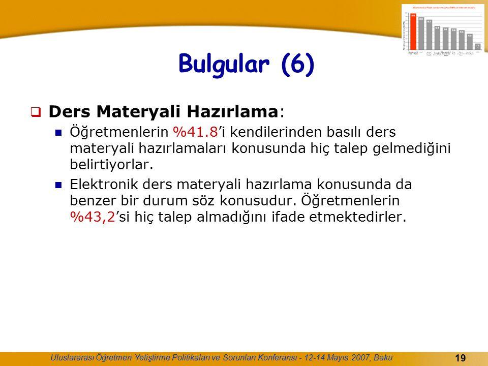Bulgular (6) Ders Materyali Hazırlama: