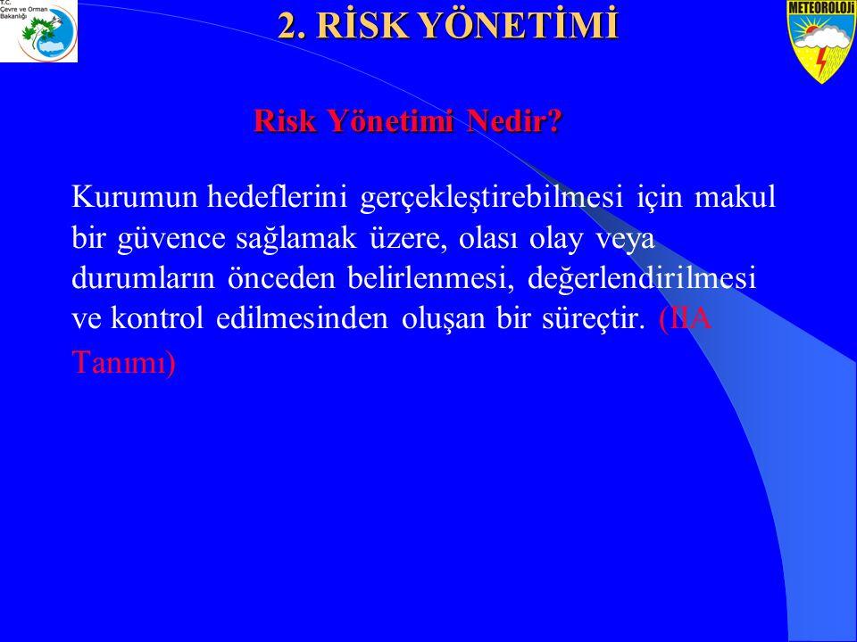 2. RİSK YÖNETİMİ Risk Yönetimi Nedir