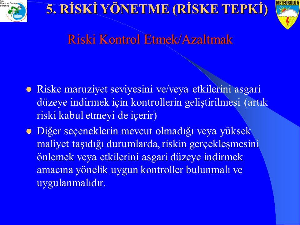 Riski Kontrol Etmek/Azaltmak