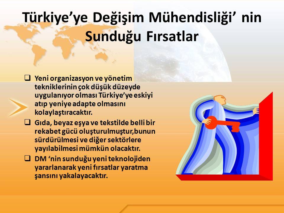 Türkiye'ye Değişim Mühendisliği' nin Sunduğu Fırsatlar