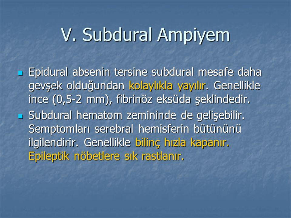 V. Subdural Ampiyem