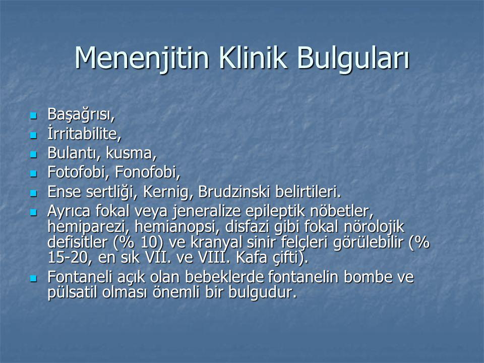 Menenjitin Klinik Bulguları