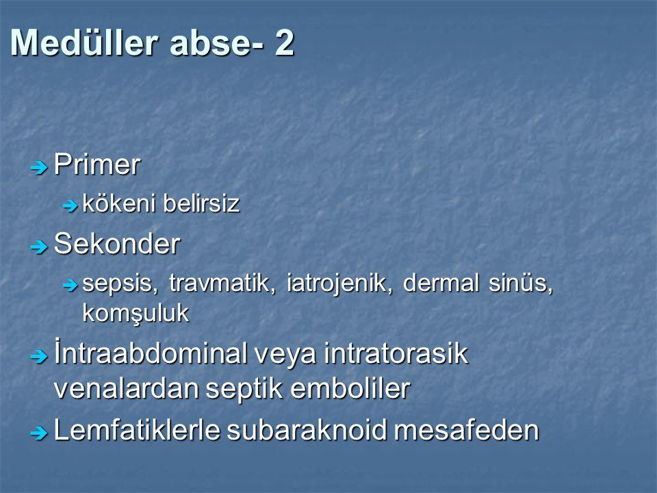 Medüller abse- 2 Primer Sekonder