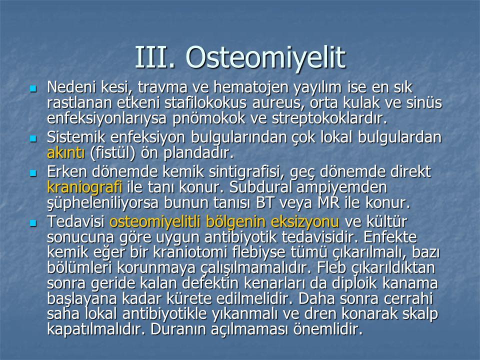 III. Osteomiyelit