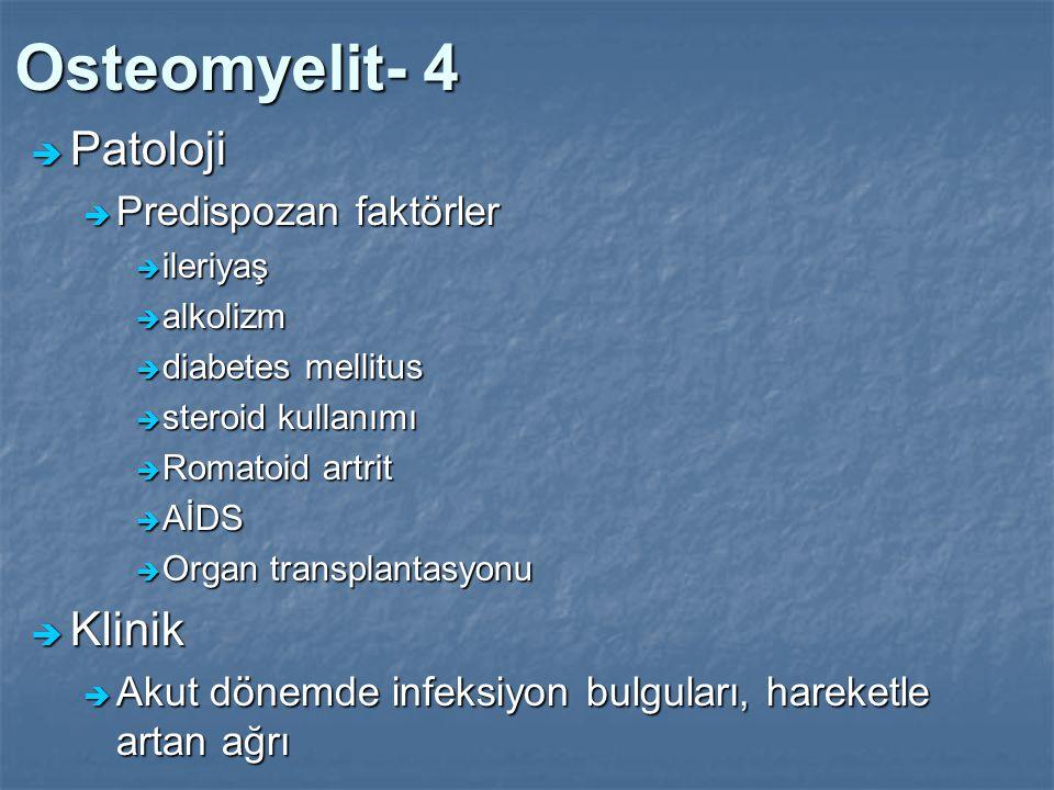 Osteomyelit- 4 Patoloji Klinik Predispozan faktörler
