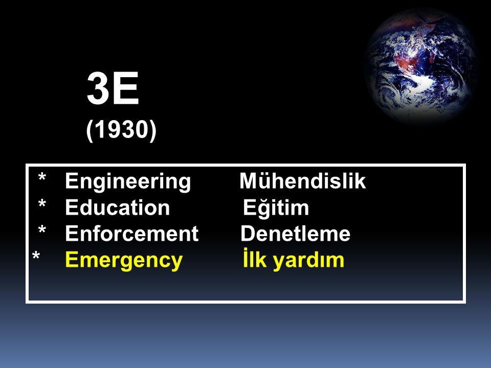 3E (1930) * Engineering Mühendislik * Education Eğitim