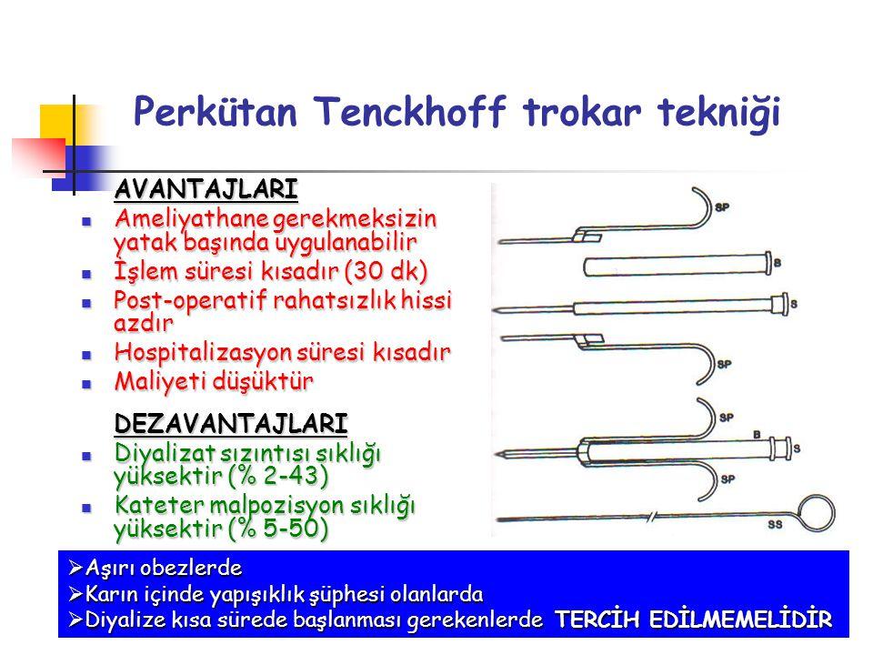 Perkütan Tenckhoff trokar tekniği