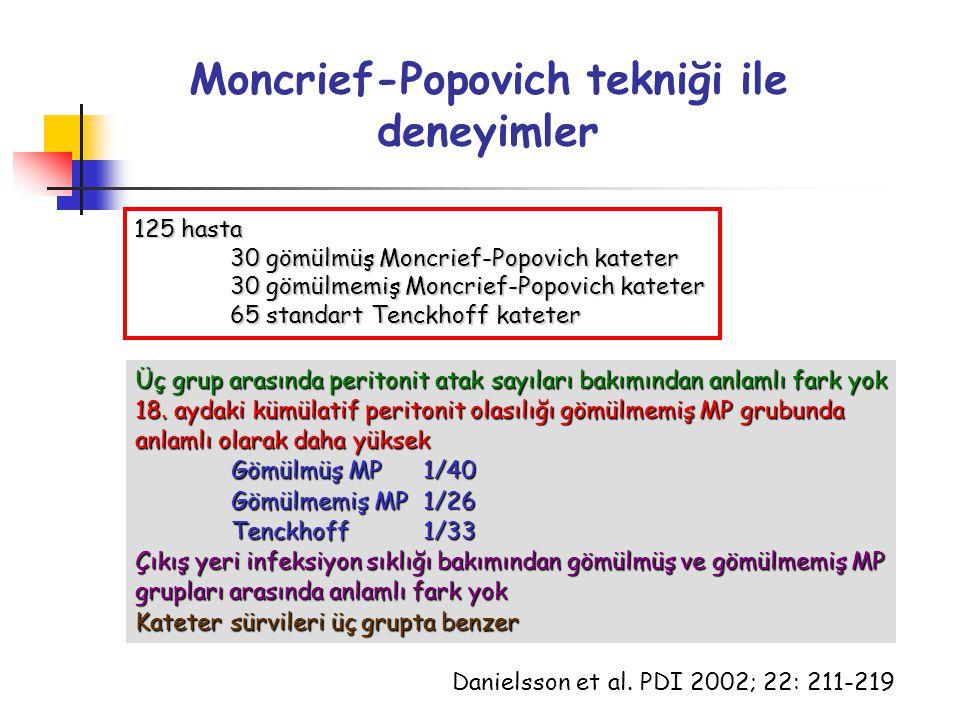 Moncrief-Popovich tekniği ile deneyimler