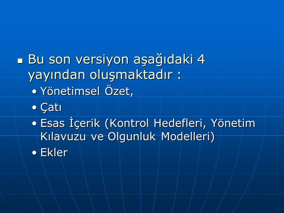 Bu son versiyon aşağıdaki 4 yayından oluşmaktadır :