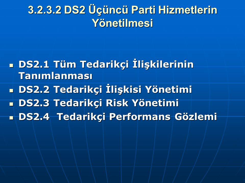 3.2.3.2 DS2 Üçüncü Parti Hizmetlerin Yönetilmesi