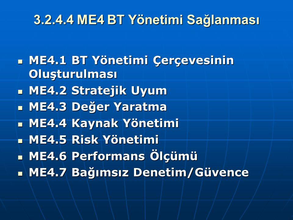 3.2.4.4 ME4 BT Yönetimi Sağlanması