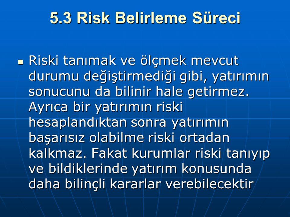 5.3 Risk Belirleme Süreci