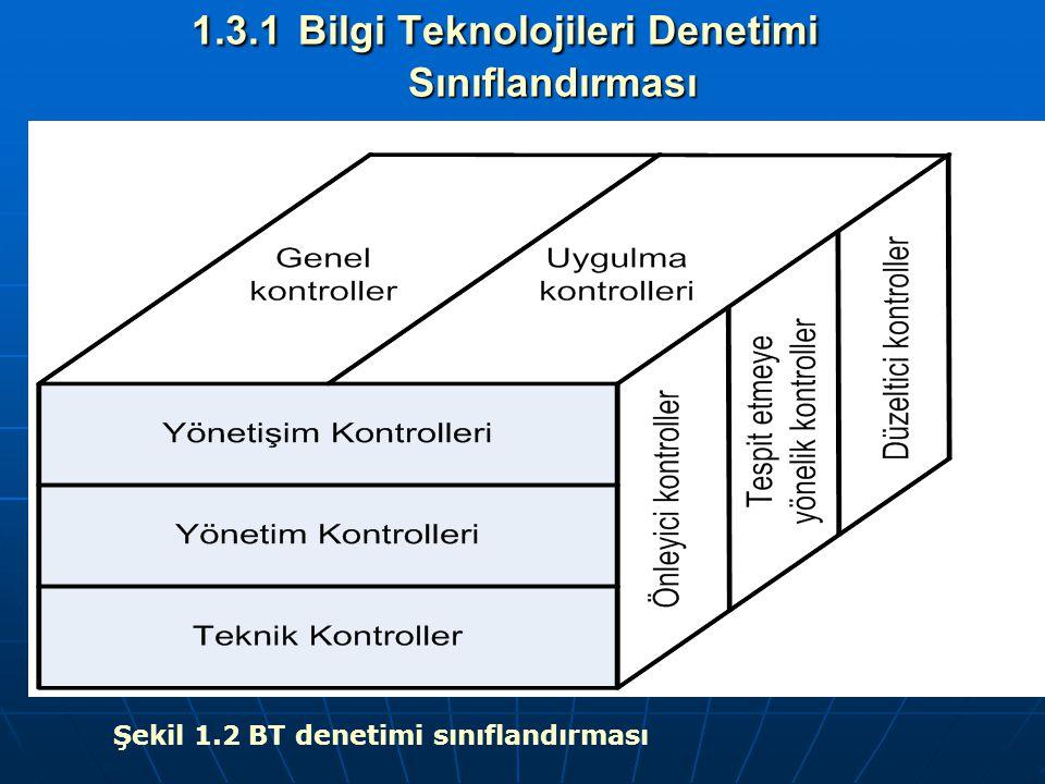 1.3.1 Bilgi Teknolojileri Denetimi Sınıflandırması