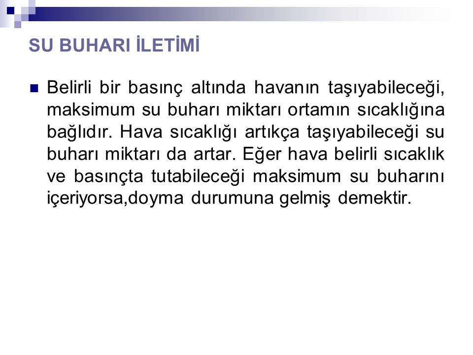 SU BUHARI İLETİMİ