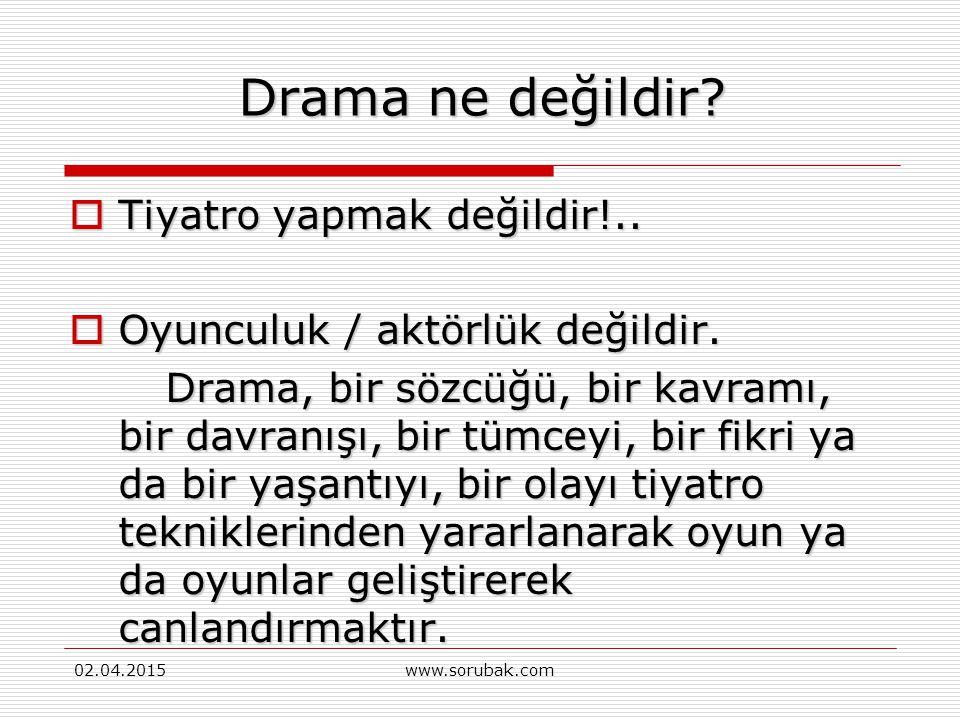 Drama ne değildir Tiyatro yapmak değildir!..
