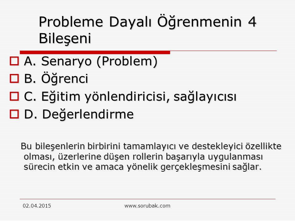 Probleme Dayalı Öğrenmenin 4 Bileşeni