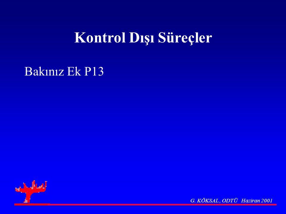 Kontrol Dışı Süreçler Bakınız Ek P13 G. KÖKSAL , ODTÜ Haziran 2001