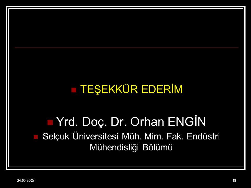 Selçuk Üniversitesi Müh. Mim. Fak. Endüstri Mühendisliği Bölümü