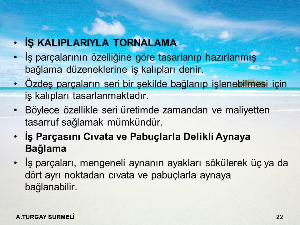 İŞ KALIPLARIYLA TORNALAMA