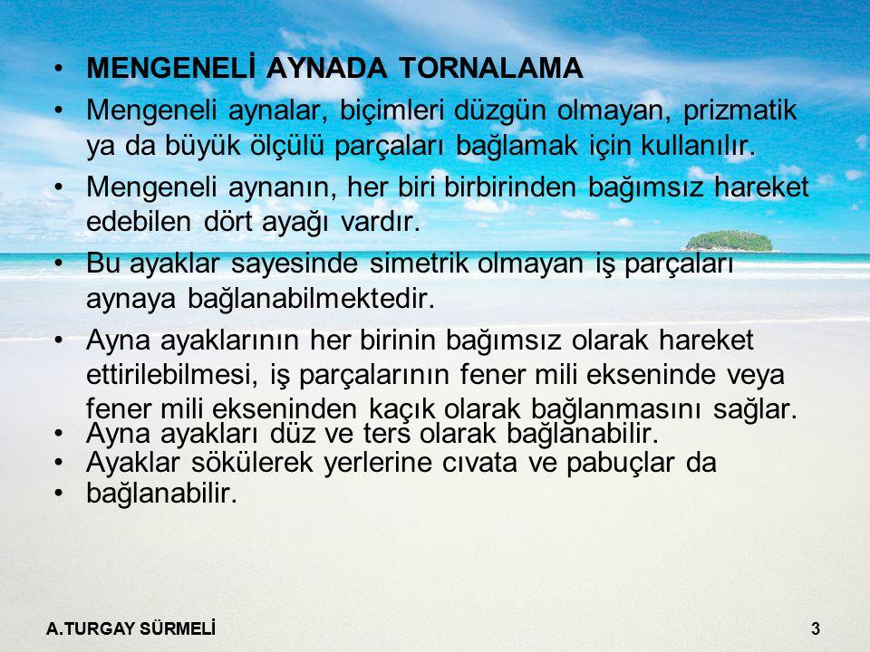 MENGENELİ AYNADA TORNALAMA