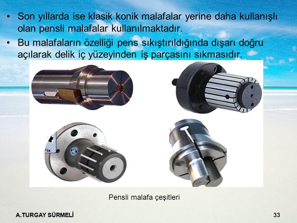 Son yıllarda ise klasik konik malafalar yerine daha kullanışlı olan pensli malafalar kullanılmaktadır.