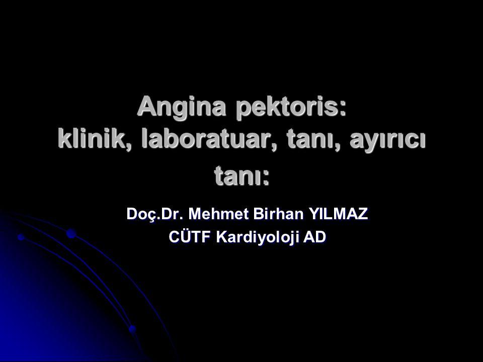 Angina pektoris: klinik, laboratuar, tanı, ayırıcı tanı: