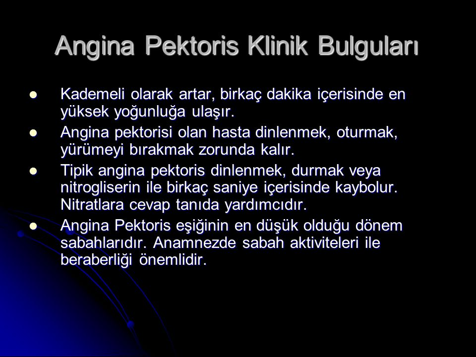Angina Pektoris Klinik Bulguları