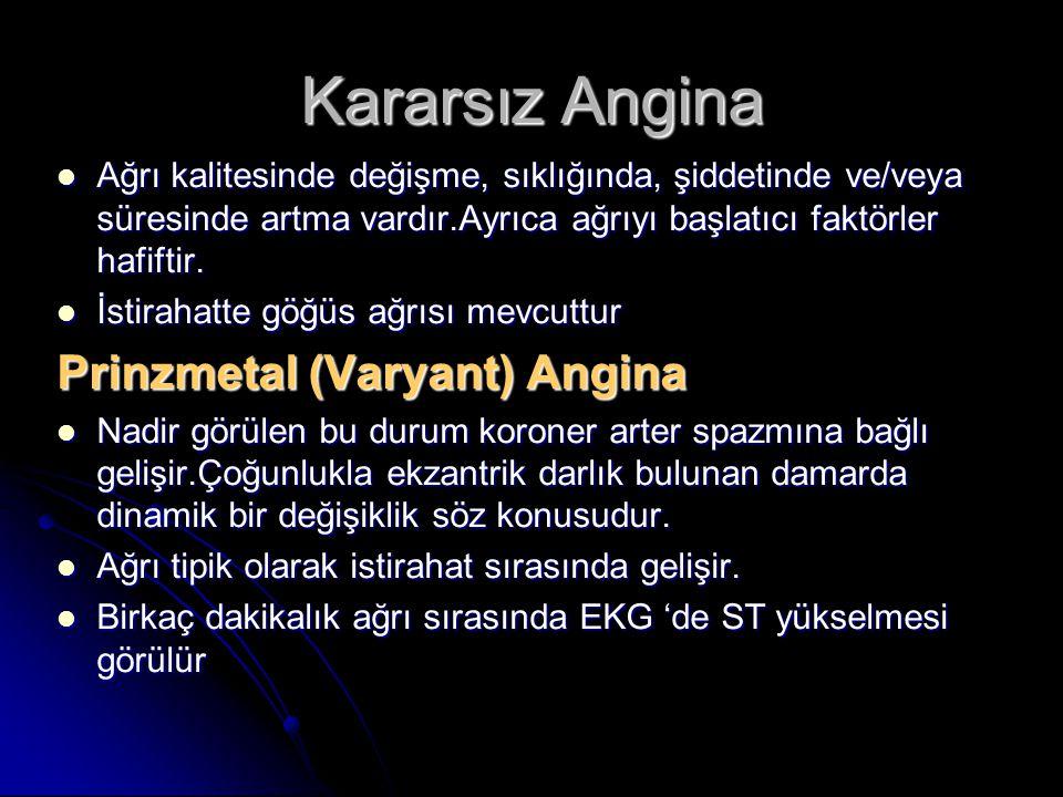 Kararsız Angina Prinzmetal (Varyant) Angina