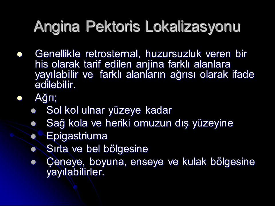 Angina Pektoris Lokalizasyonu