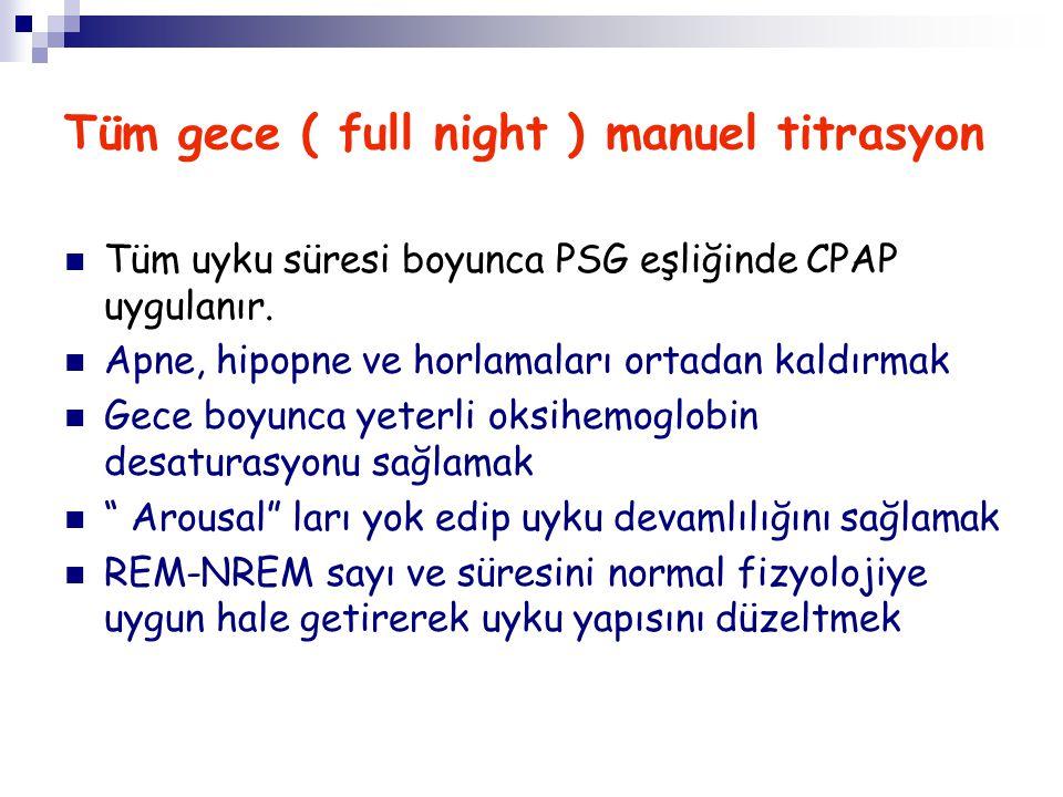Tüm gece ( full night ) manuel titrasyon